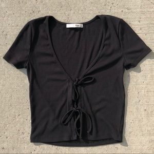 Wilfred only tie front tee